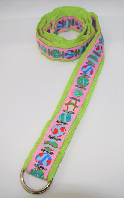 Angela Moore Hearts Lime Green Ribbon Belt Size Medium