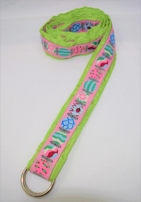 Angela Moore Ladybug Lime Green Ribbon Belt Size Medium