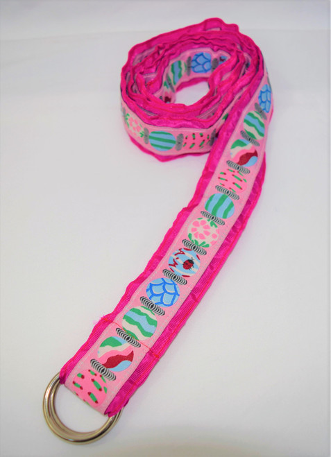 Angela Moore Ladybug Fuchsia Pink Ribbon Belt Size Large