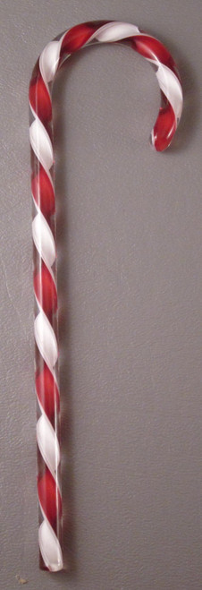 Tazza Candy Cane Ornament - Red and White