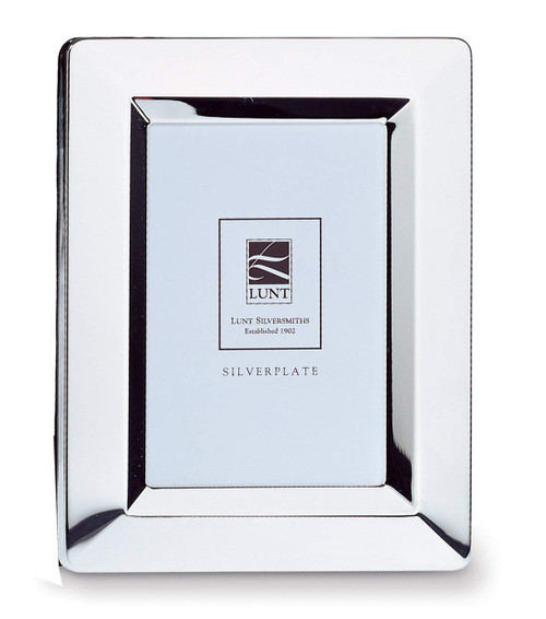 "Lunt Beveled Border Silver Plate 8"" x 10"" Picture Frame NEW"