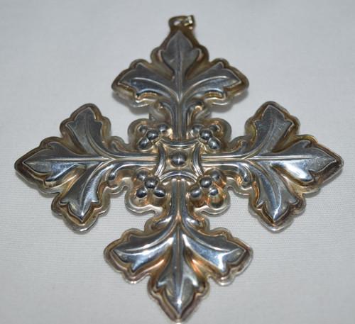 Reed & Barton Annual Cross Ornament 1997