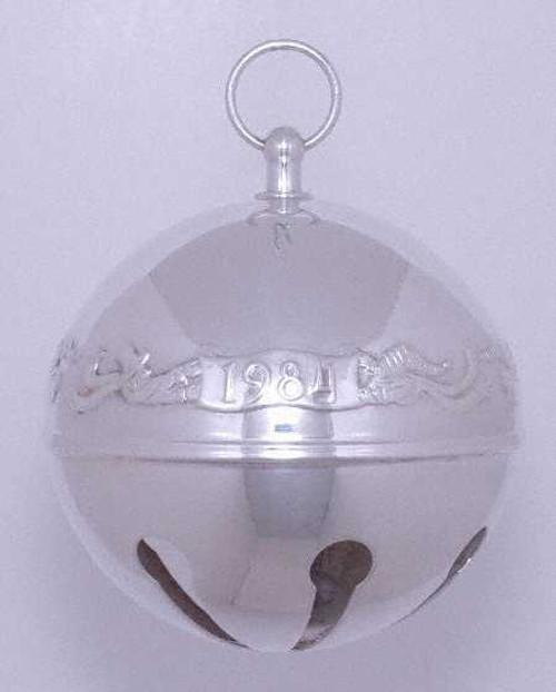 Wallace Annual Sleigh Bell Ornament 1984