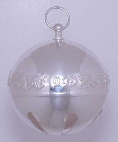 Wallace Annual Sleigh Bell Ornament 1999