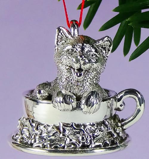 Cat of Mine Kitten in Teacup Ornament