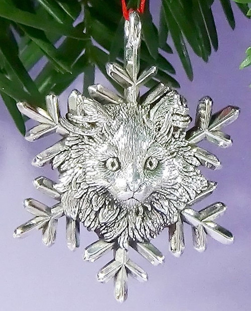 Cat of Mine Maine Coon Kitten Snowflake Ornament