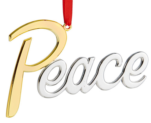 Nambe Peace Ornament