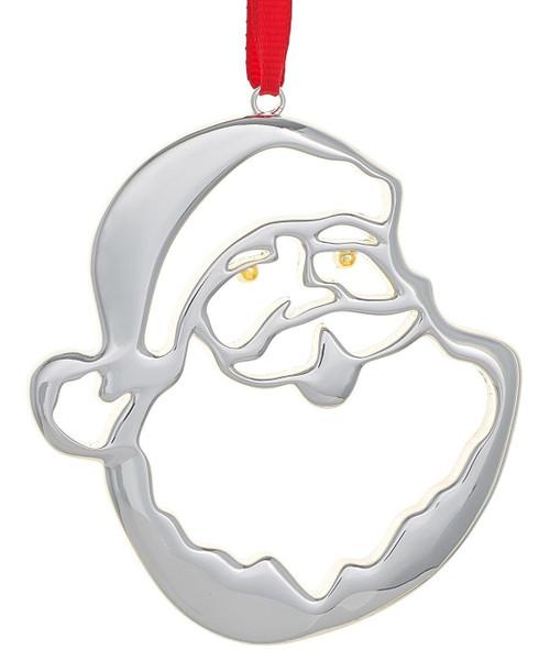 Nambe Jolly St. Nick Santa Ornament