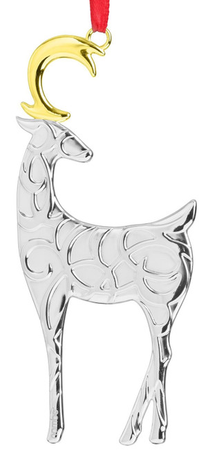 Nambe Filigree Reindeer Ornament