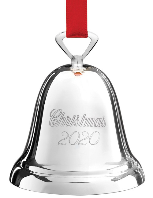 Reed And Barton Christmas Cross 2020 Thurbers Reed & Barton Annual Bell Ornament 2020   Silver Plate   Thurbers