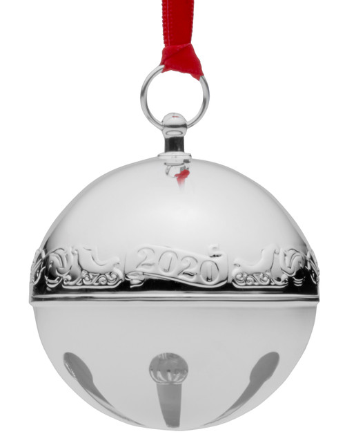 Wallace Annual Sleigh Bell Ornament 2020 - Silver Plate