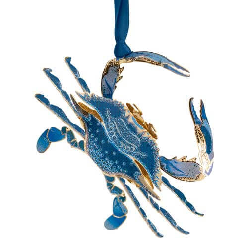 Beacon Blue Crab Ornament 3D