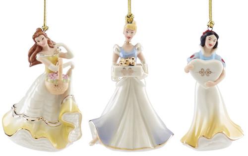 Lenox Disney Princess Set of 3 Ornaments