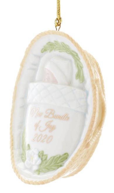 Lenox Baby's First Christmas Basket Ornament 2020