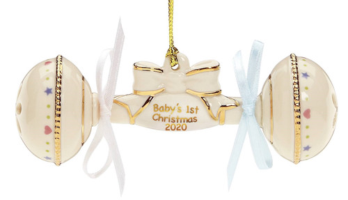 Lenox Baby's First Christmas Rattle Ornament 2020