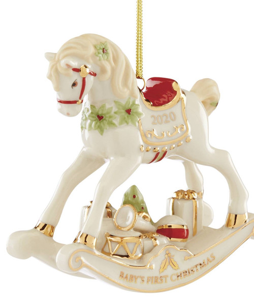 Lenox Baby's First Christmas Vintage Rocking Horse Ornament 2020