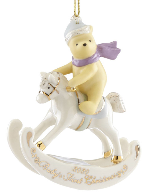 Lenox Baby's First Christmas Winnie the Pooh Rocking Horse Ornament 2020