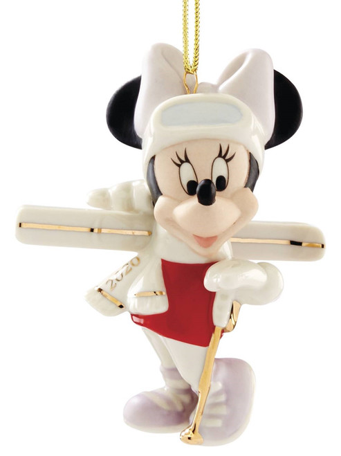 Lenox Disney Skiing Minnie Mouse Ornament 2020
