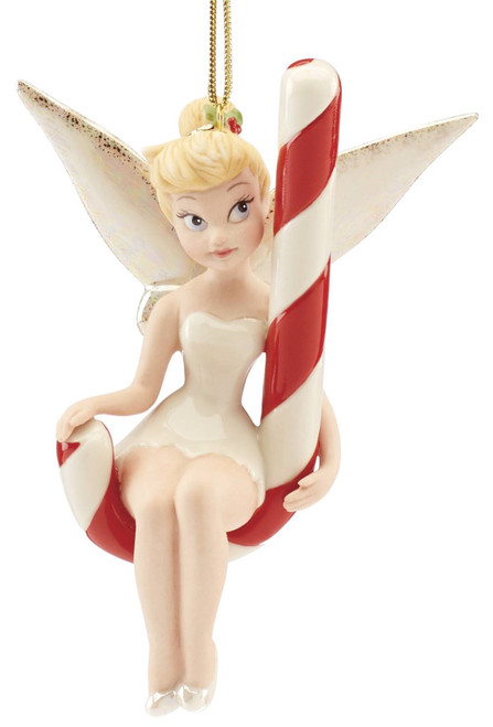 Lenox Disney Tinker bell on Candy Cane Ornament 2020
