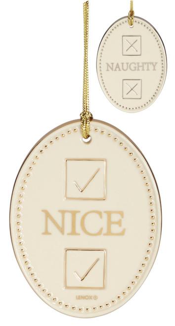 Lenox Naughty/Nice Double Sided Ornament