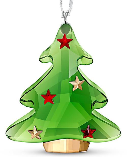 Swarovski Green Christmas Tree Ornament