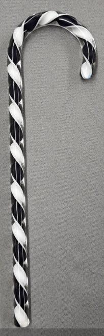 Tazza Candy Cane Ornament - Black and White