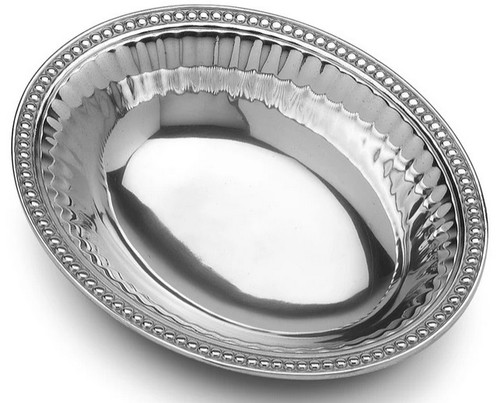 Wilton Armetale Flutes & Pearls Oval Bowl