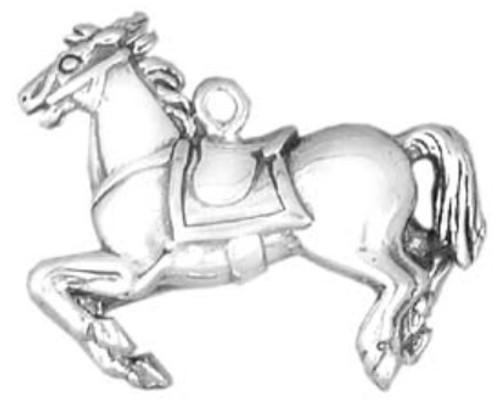 Hand & Hammer Carousel Horse Charm
