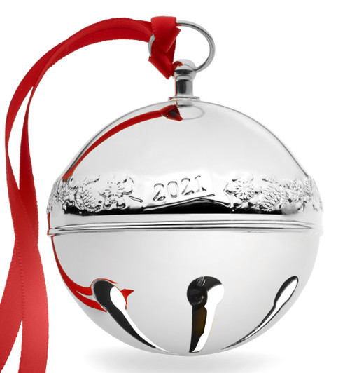 Wallace Annual Sleigh Bell Ornament 2021 - Silver Plate