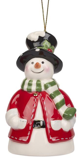 Spode Christmas Tree Snowman Bell Ornament
