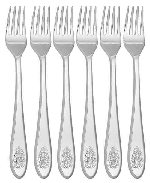 Spode Christmas Tree Cutlery Cocktail Forks Set of 6