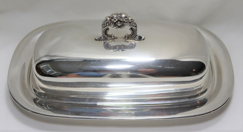 Reed & Barton Francis I 1 1/4lb Covered Butter Dish with Glass Liner