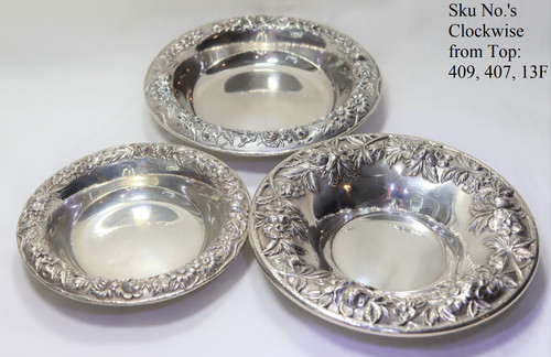 Kirk Stieff Repousse Set of 3 Nut Bowls