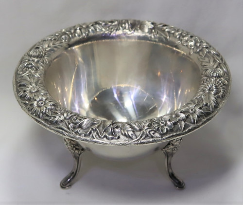 Kirk Stieff Repousse Footed Mayonnaise Bowl