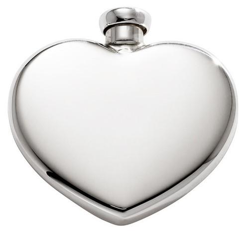JT Inman Heart Shaped Perfume Flask or Ash Pendant