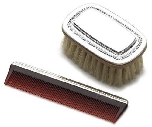 Gorham Beaded Boys Brush and Comb Set