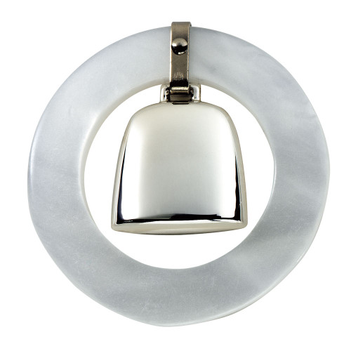 Salisbury White Teething Ring Rattle