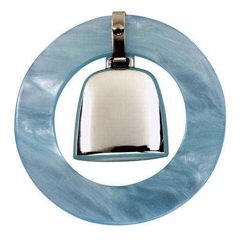 Salisbury Blue Teething Ring Rattle
