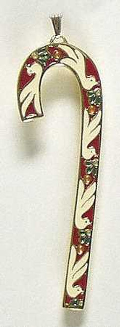 Wallace Annual Candy Cane Ornament 1985