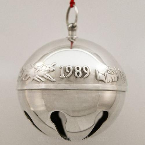 Wallace Annual Sleigh Bell Ornament 1989
