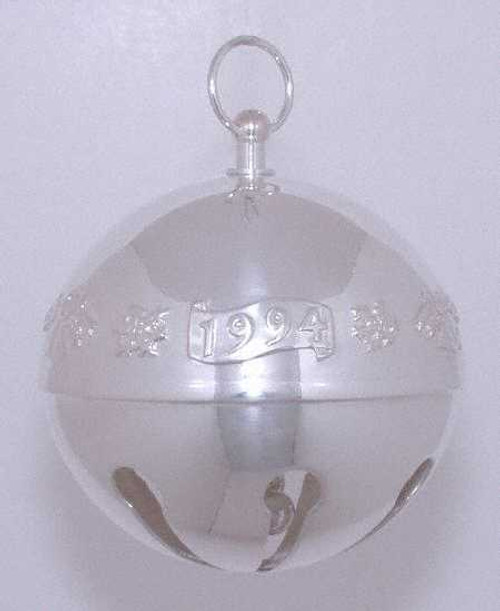 Wallace Annual Sleigh Bell Ornament 1994