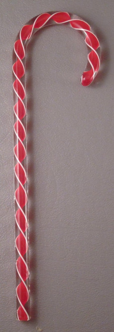 Tazza Candy Cane Ornament - Red
