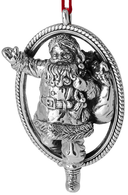 Barrett+Cornwall Christmas Eve Santa Claus Ornament