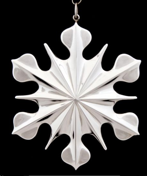New England Sterling American Heritage Snowflake Ornament 1998