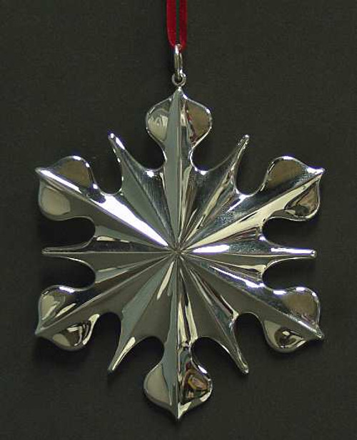 New England Sterling Snowflake Ornament 2001