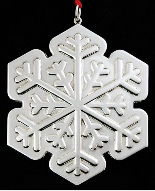 New England Sterling Snowflake Ornament 2002