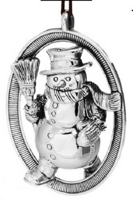 Barrett+Cornwall Snowman Ornament