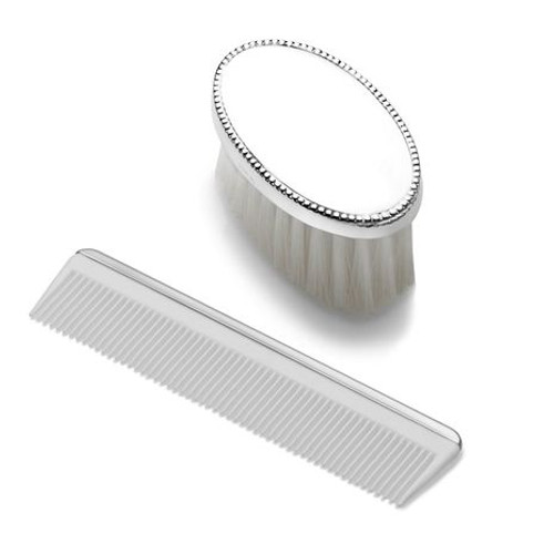 Empire Boys Oval Beaded Brush and Comb Set