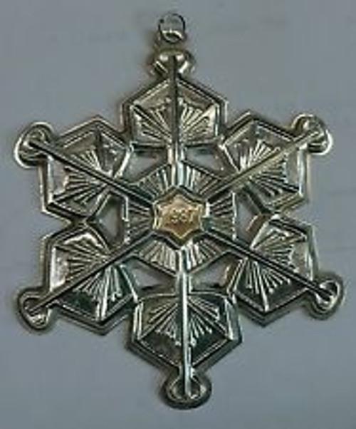 Gorham Annual Snowflake Ornament 1987