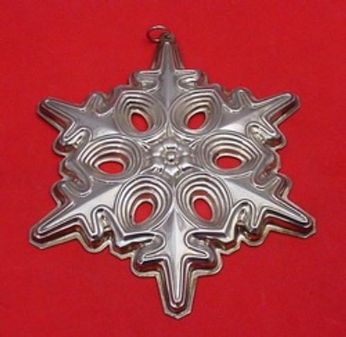 Gorham Annual Snowflake Ornament 1991